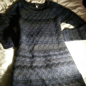 Forte Cashmere & Wool Sweater Small Blue